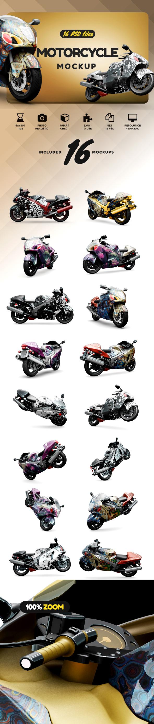 Motorcycle Mockup example image 2