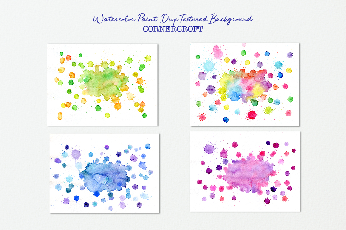Watercolor paint drops background example image 2