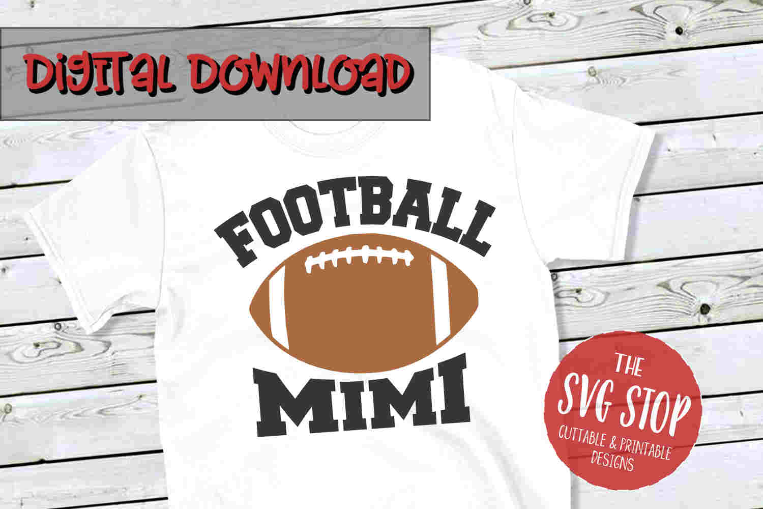 Football Mimi -SVG, PNG, DXF example image 1