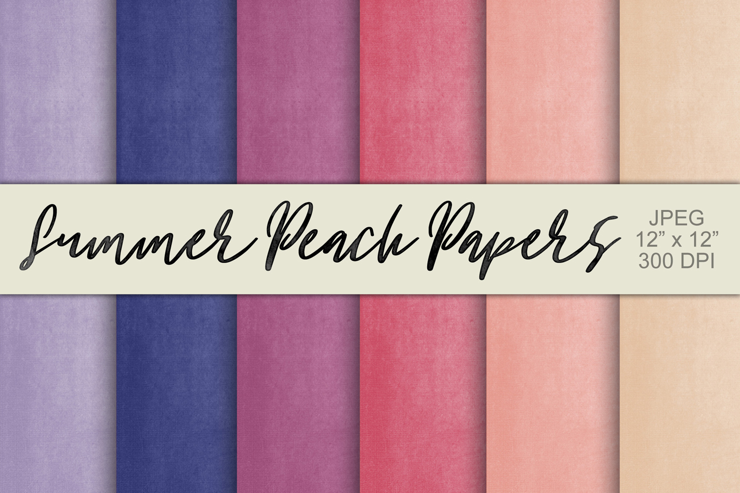 Digital Paper Textured Backgrounds - Summer Peach example image 1