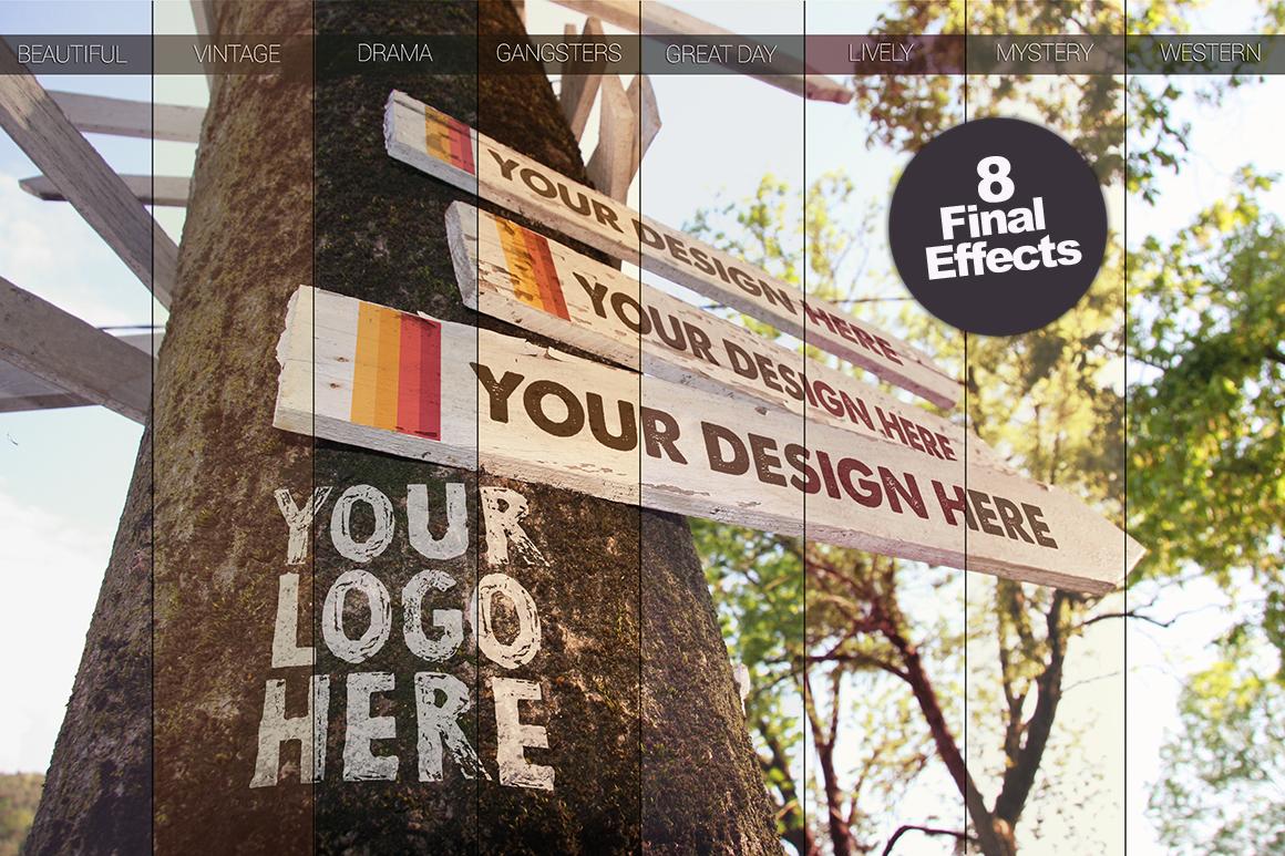 Wooden Directional Signals | Logo Mockup example image 5