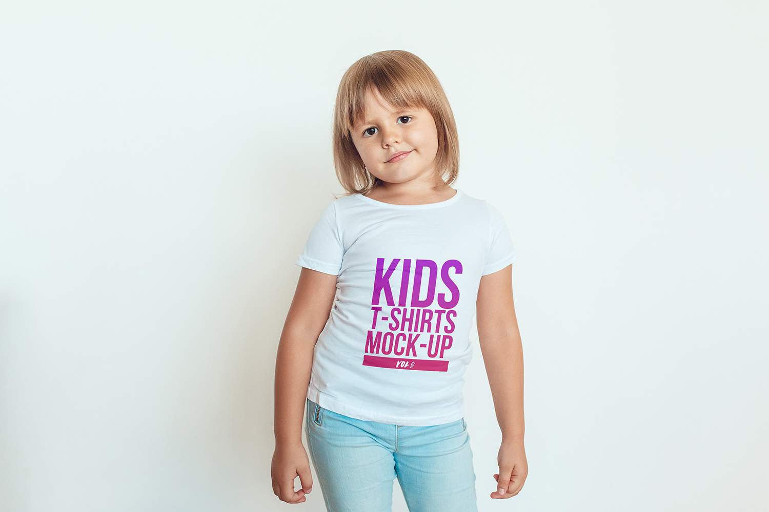 Kids T-Shirt Mock-Up Vol 5 example image 2