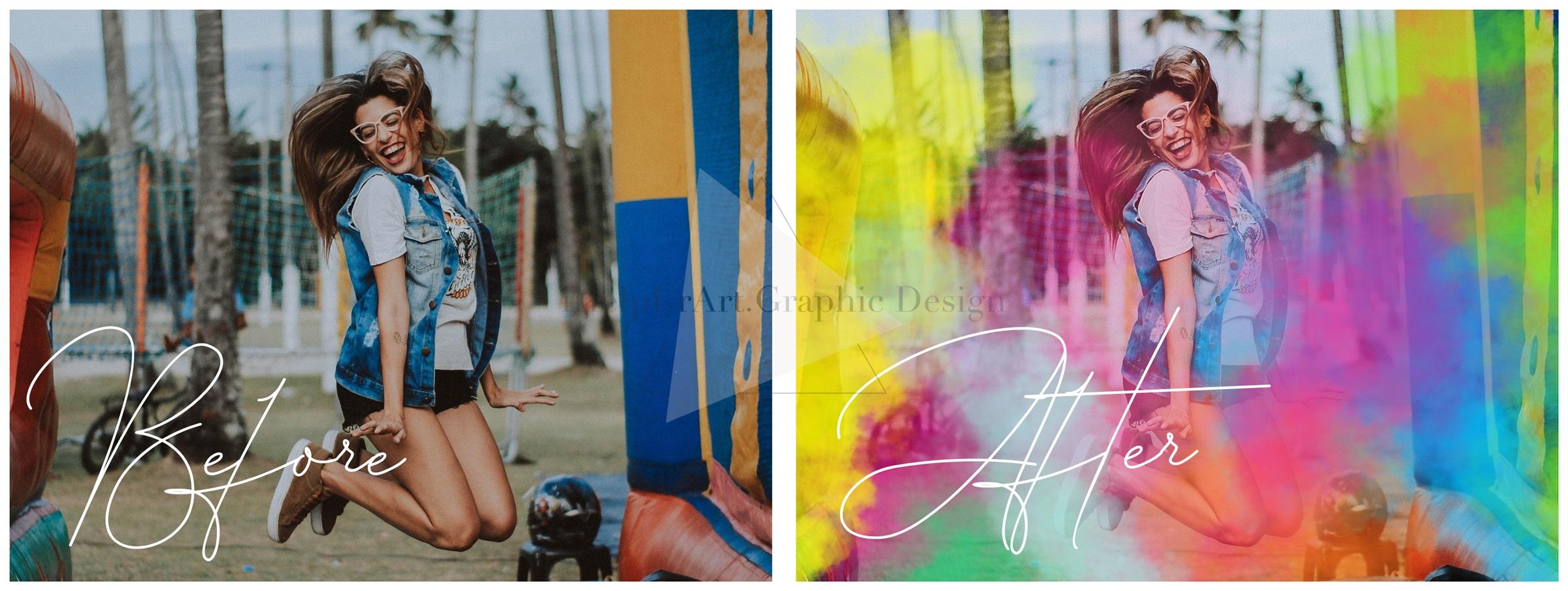 Smoke Photo Overlays - Colorful Smoke Clipart example image 3