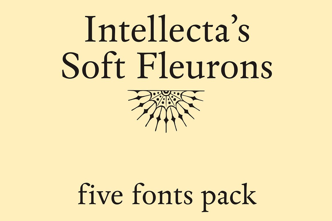 Soft Fleurons Pack - five fonts example image 3