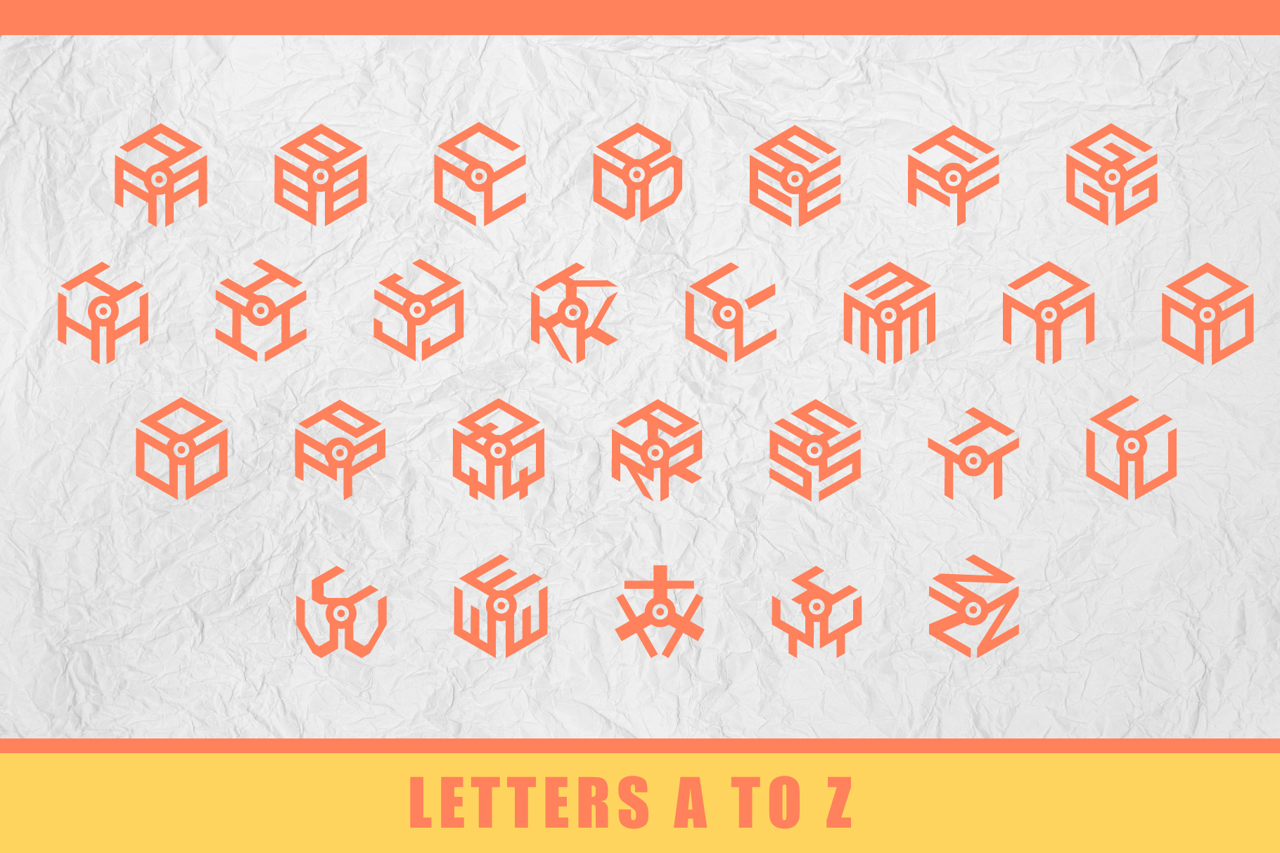 3D Isometric Logo Font example image 2