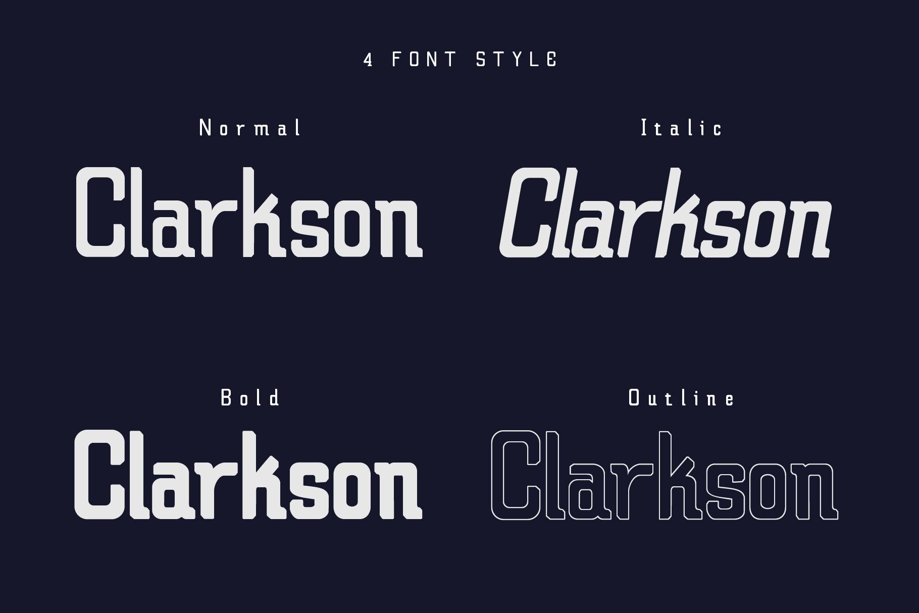 Claretta Font Family example image 4