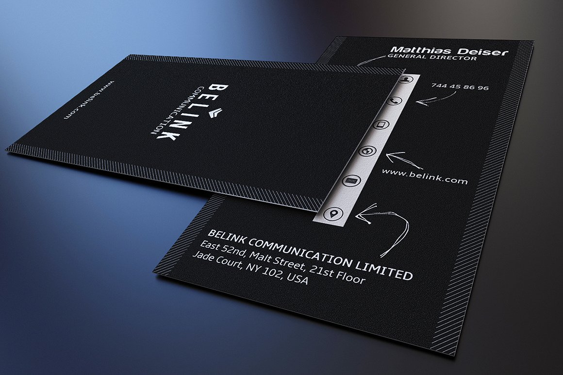 Creative Black Business Card example image 3