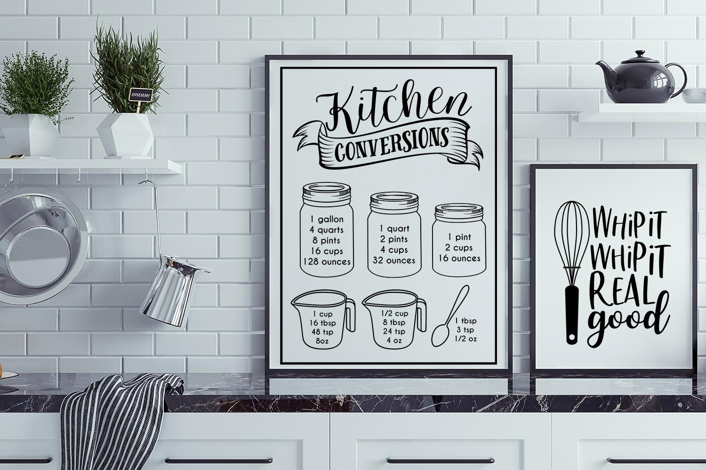 BIG Kitchen Sign Making Cut File Bundle example image 8