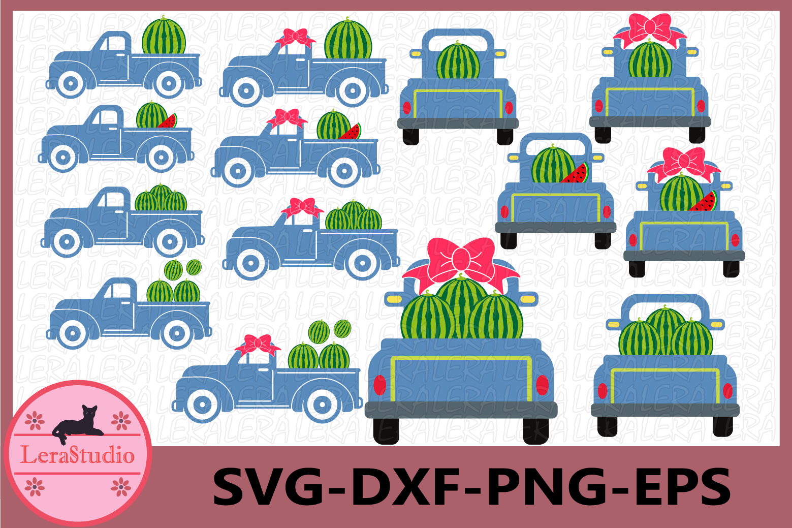 Watermelon SVG, Truck Svg, Truck Watermelon svg example image 1