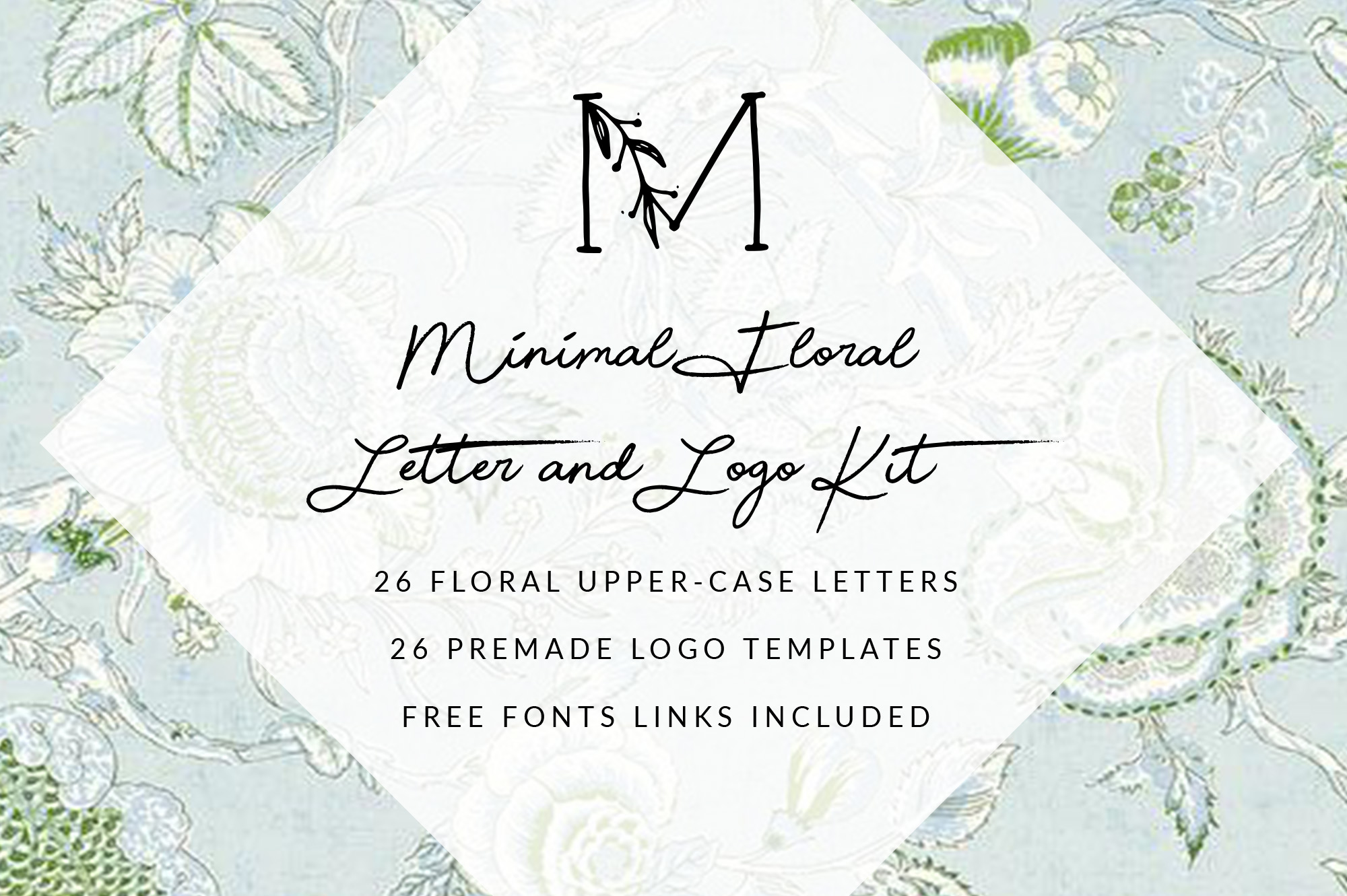 MINIMAL FLORAL LETTER AND LOGO KIT example image 2