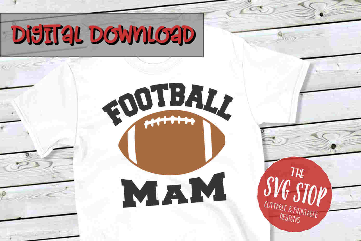 Football Mam -SVG, PNG, DXF example image 1