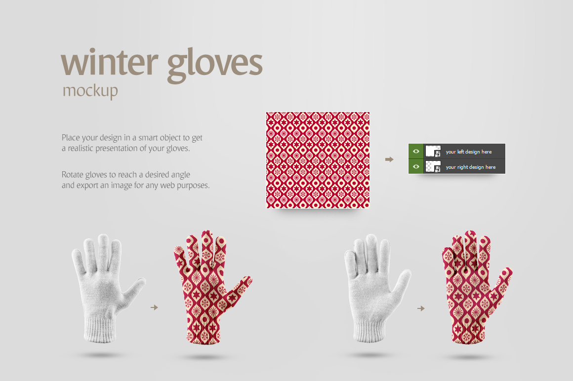 Winter Gloves Mockup example image 6