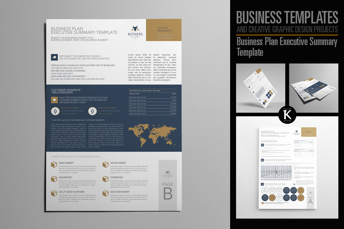 Business plan executive summary templat design bundles business plan executive summary template example image 1 flashek Image collections