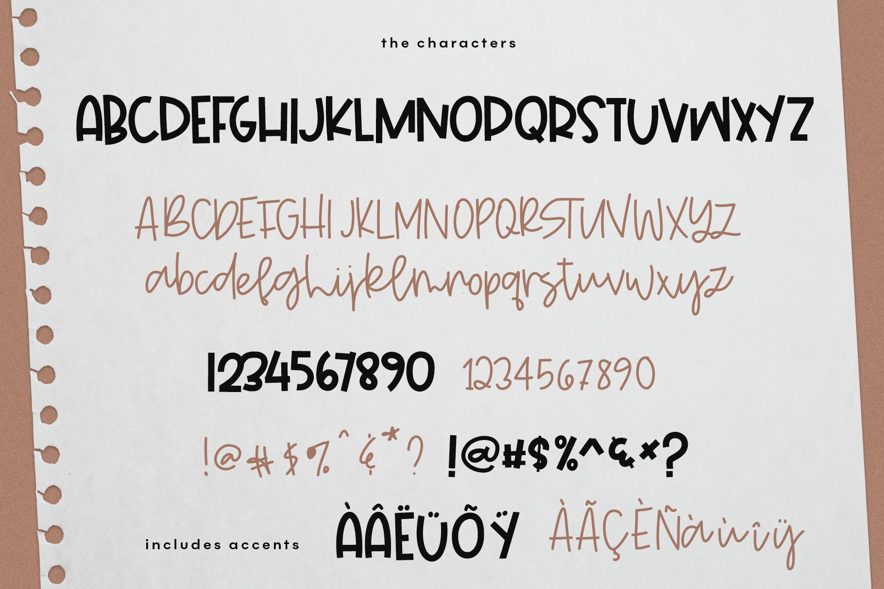 Wild One- Handwritten Script & Print Font Duo example image 7