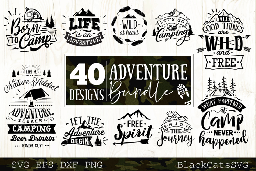 Adventure SVG bundle 40 designs Mountains SVG bundle example image 5