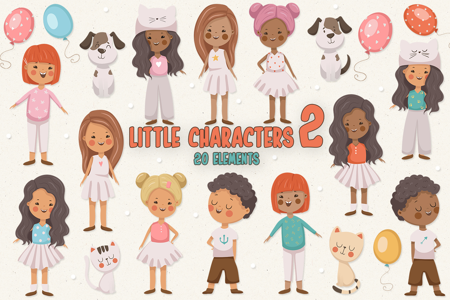 Little Characters 2 example image 1