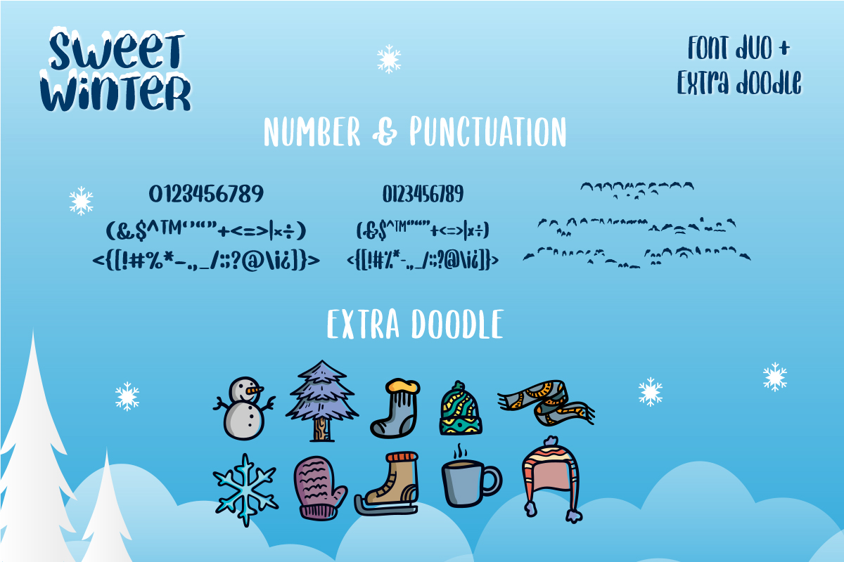 Sweet Winter - Layered Font Duo example image 10