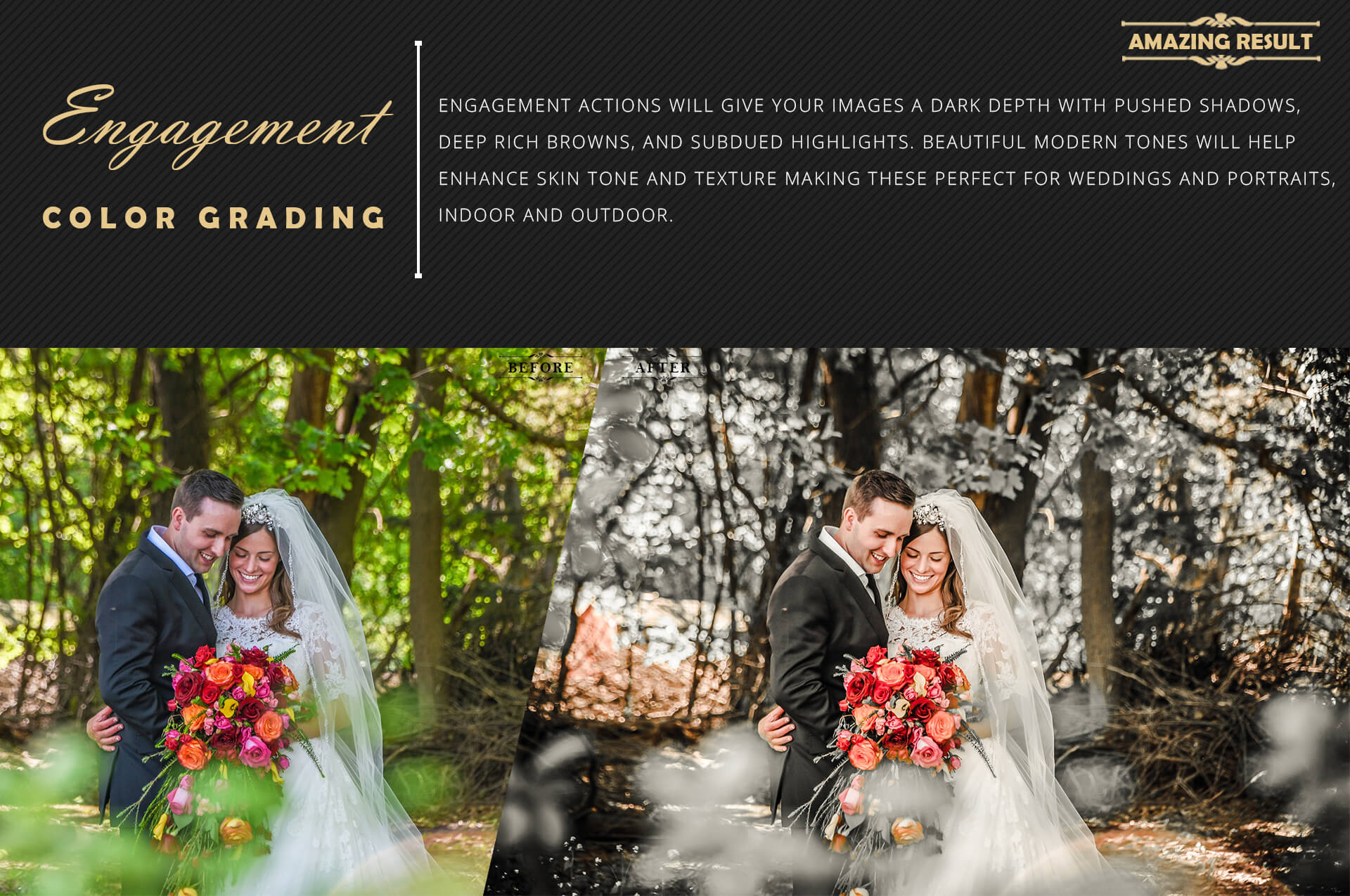 Engagement Color Grading Photoshop actions Filter example image 4