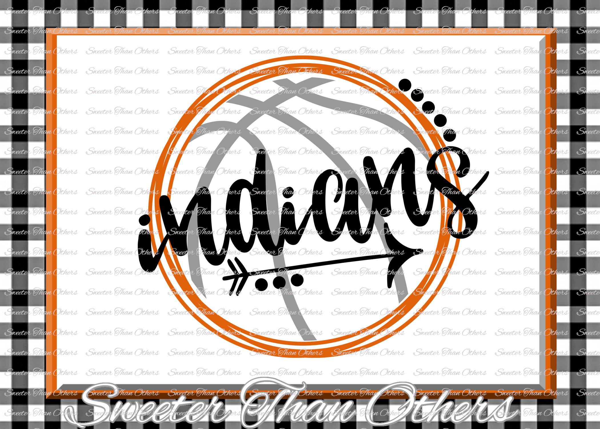 Basketball SVG, Indians svg, Indians Basketball svg example image 1