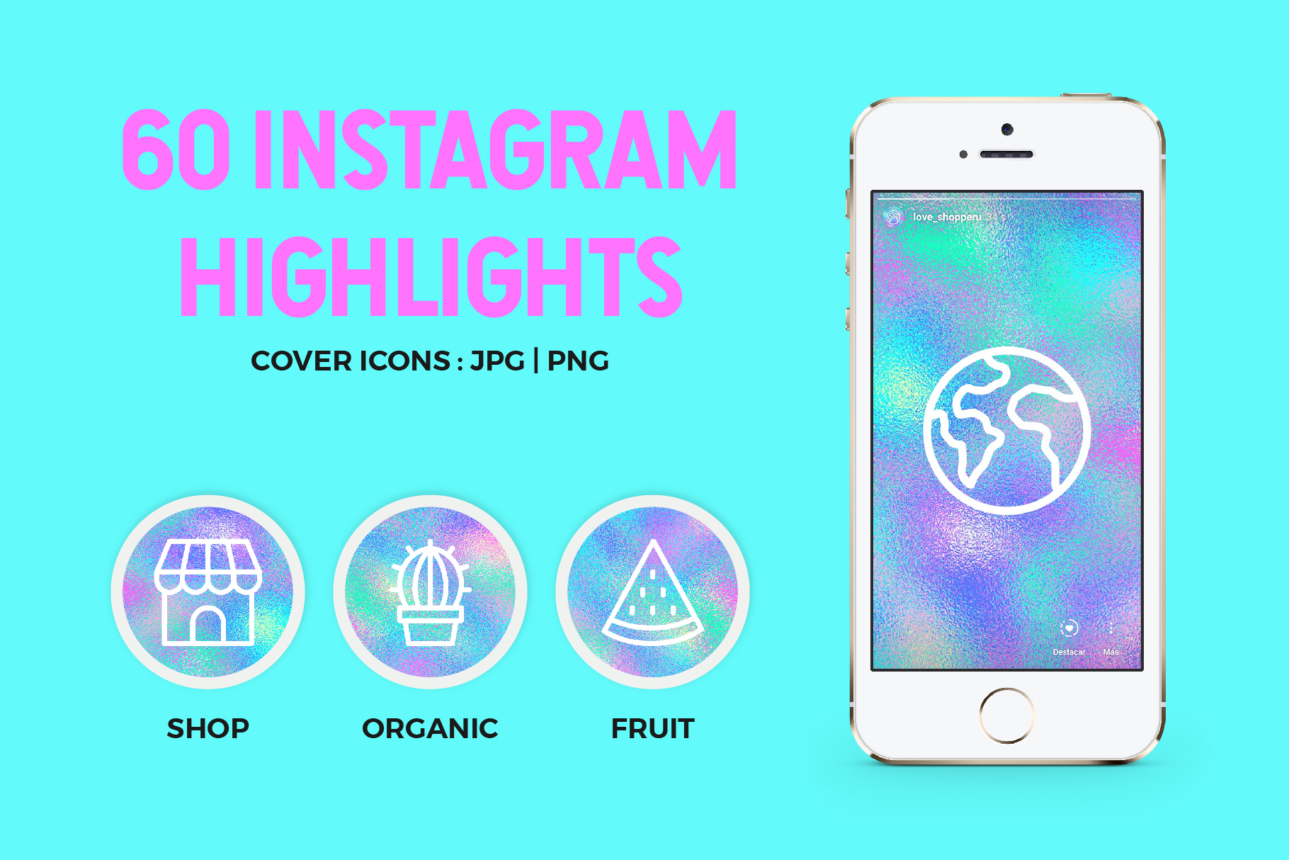60 Holographic Instagram Covers example image 1