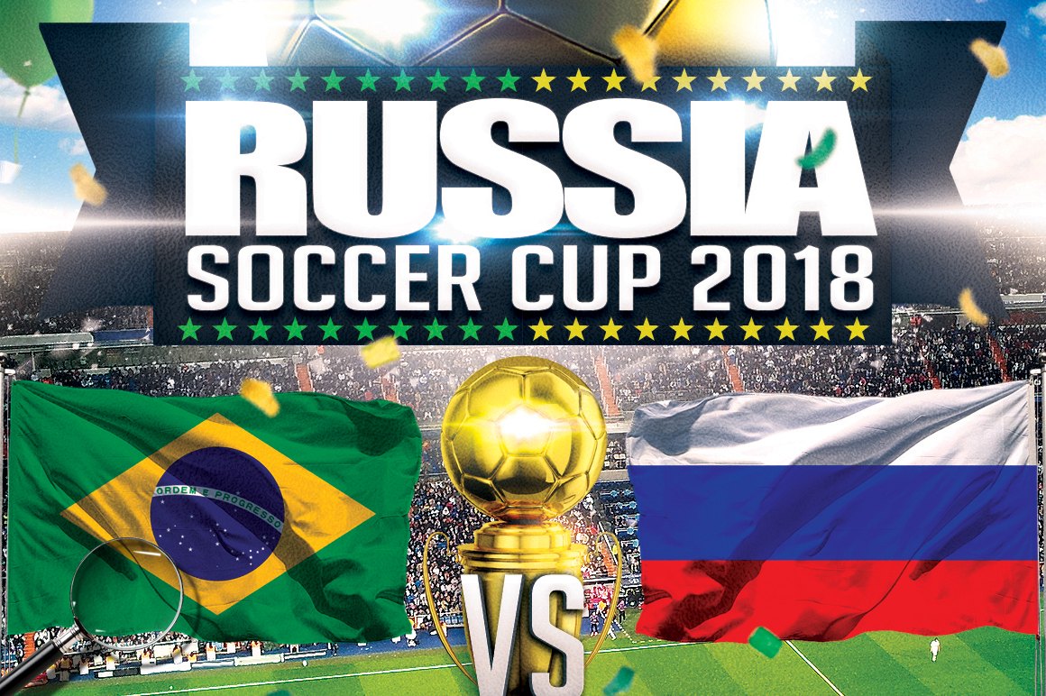 Soccer Russia World Cup 2018 | 2in1 Flyer Template example image 9