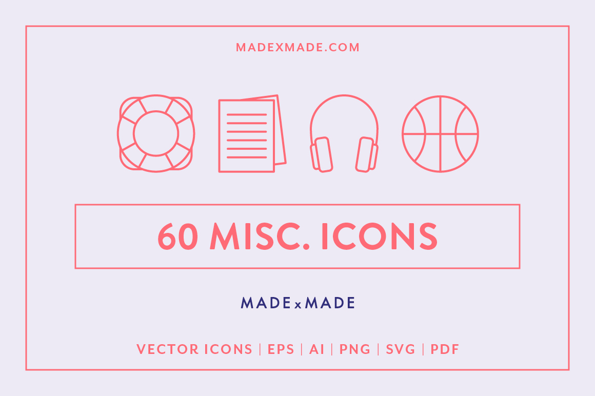 Line Icons - Miscellaneous Icons example image 1
