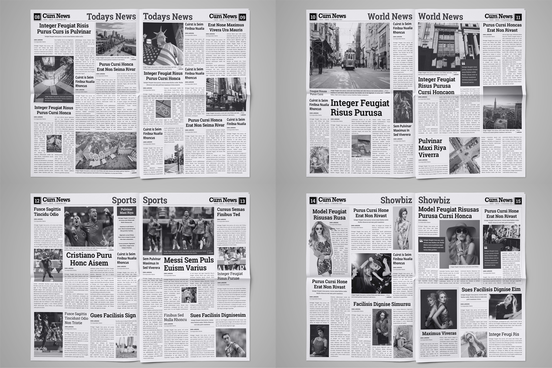 Newspaper Design Bundle - 3 in One example image 10