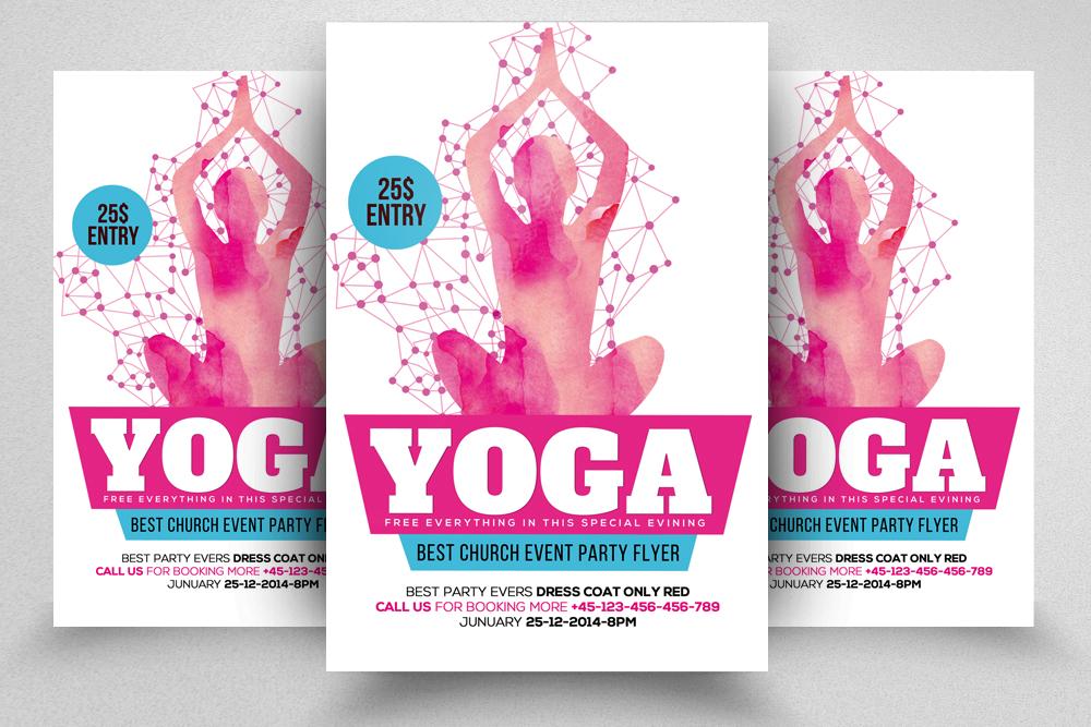 Yoga Flyer Template 01 by Designhub719 | Design Bundles