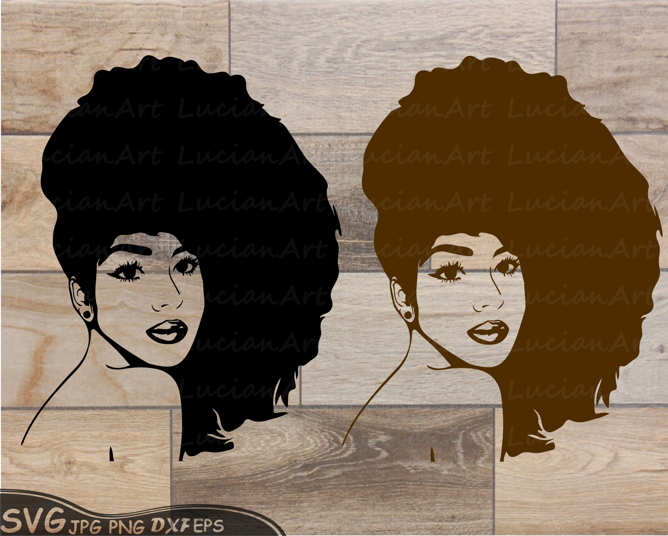 Black Woman Svg Natural Hair Svg Afro Svg,Black Woman 175Sv-2094
