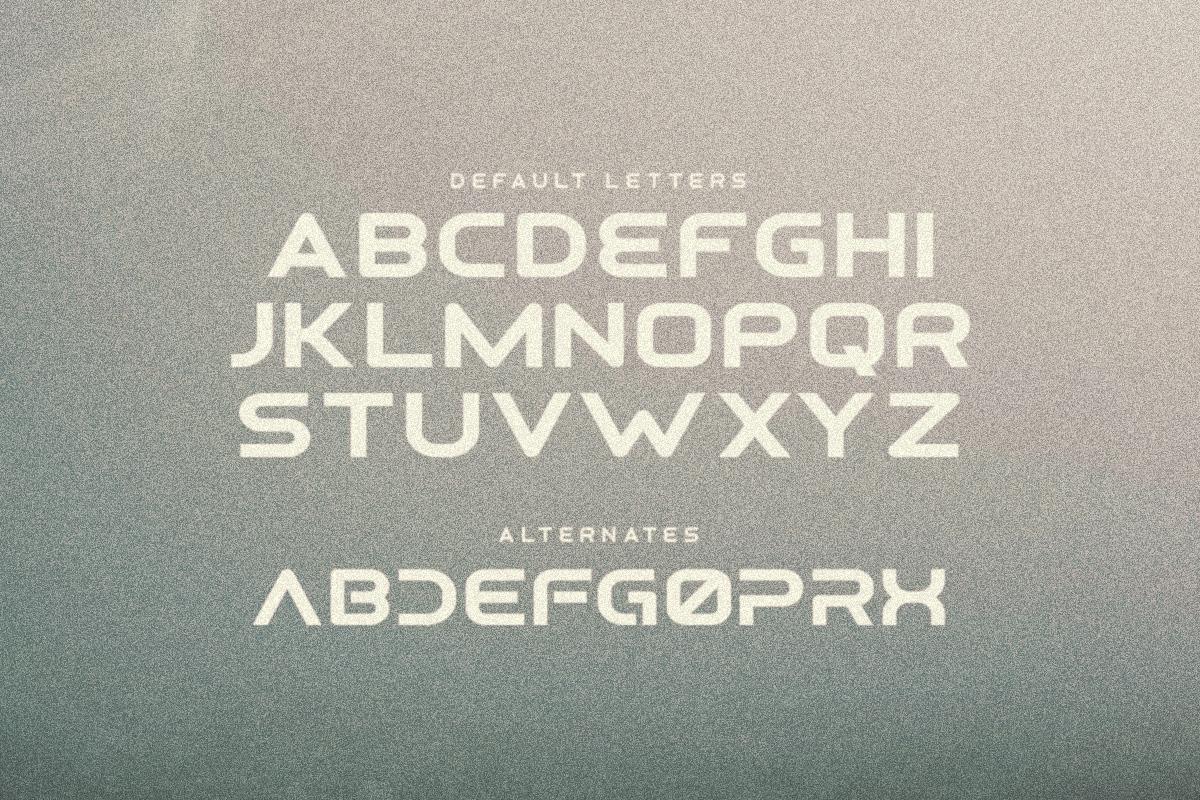 Osiris - Futuristic Font example image 2