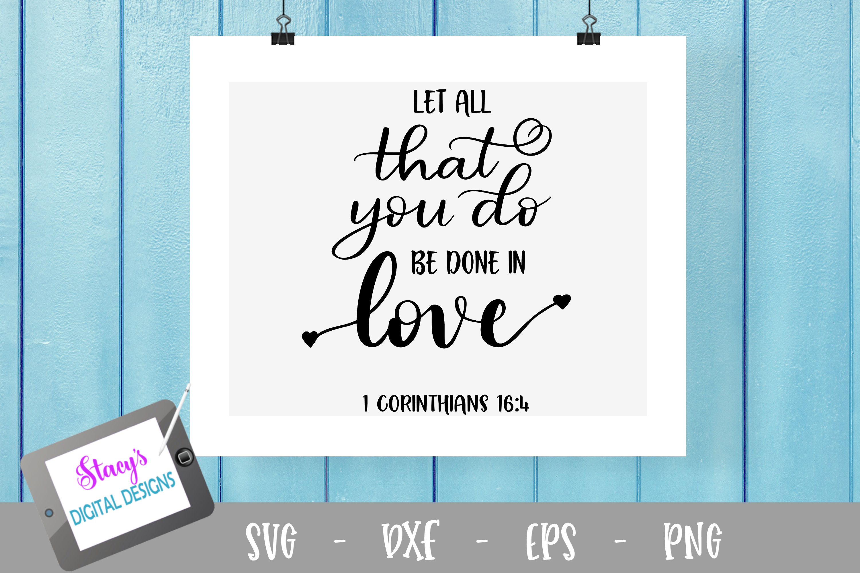 Let all that you do be done in love SVG example image 2