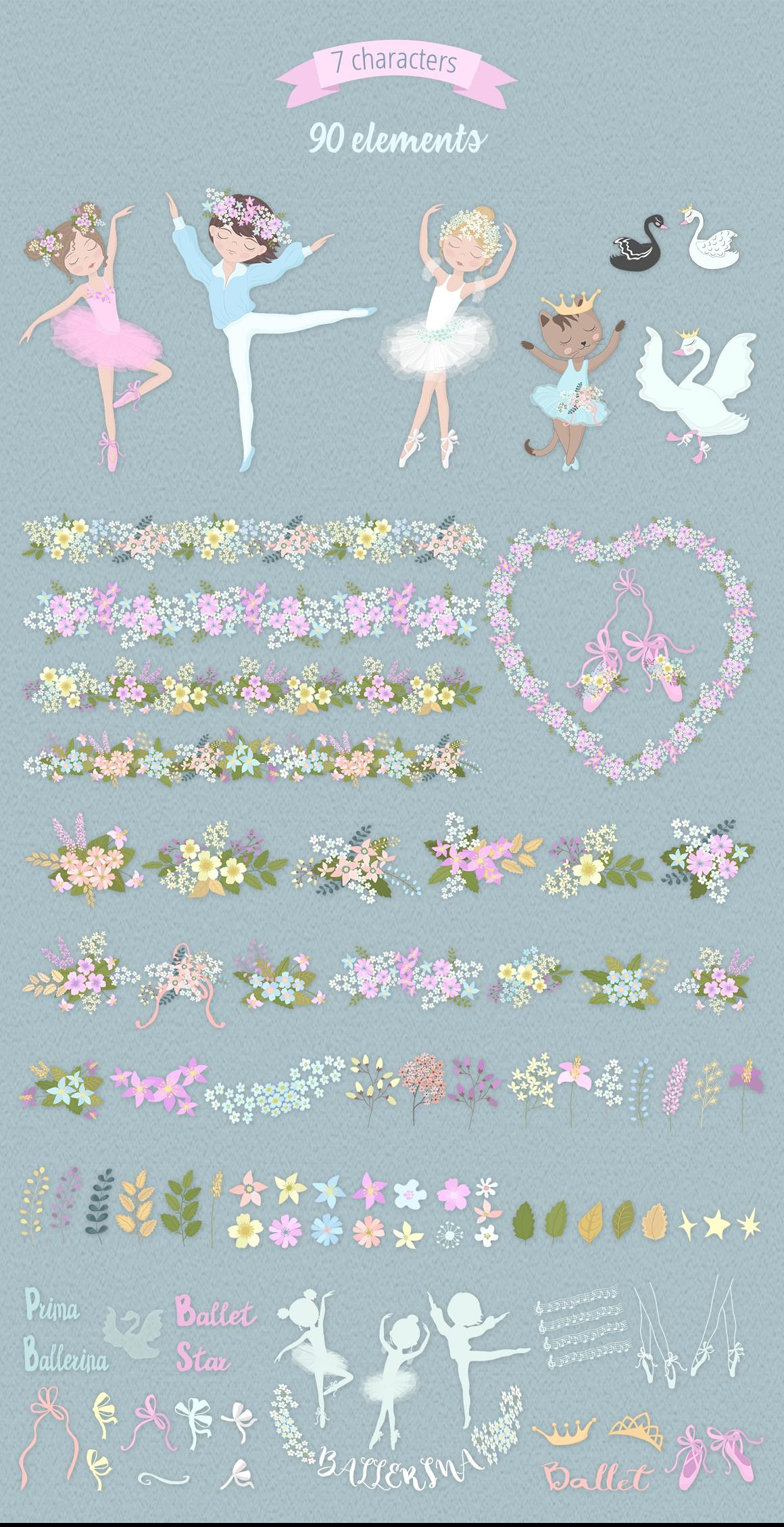Ballet School Illustration Set example image 6