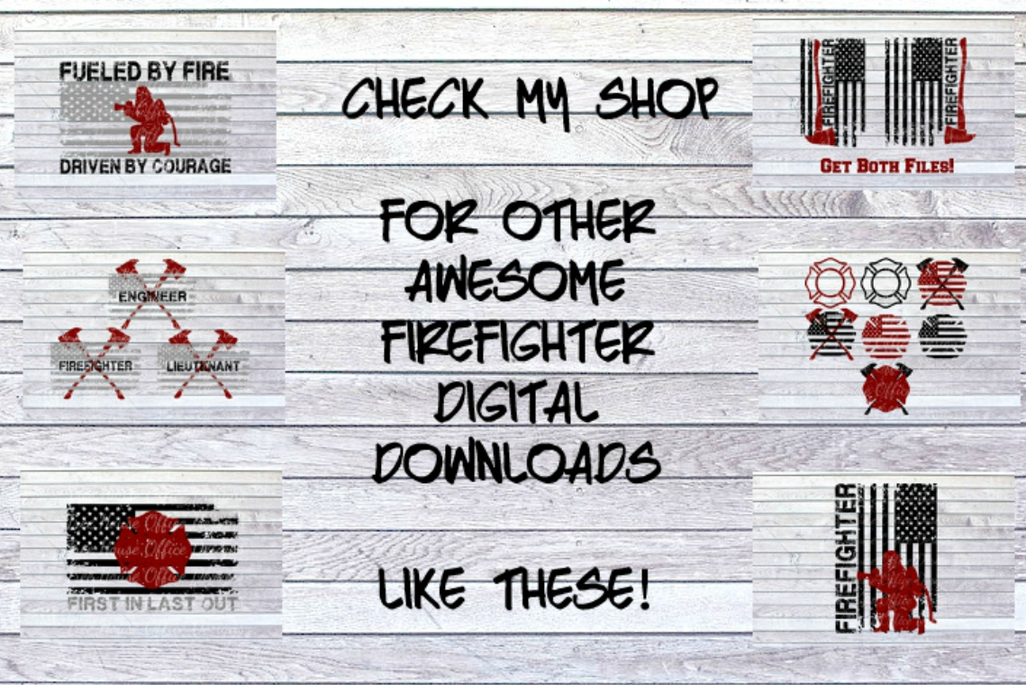 Bless Our Firefighters Fireman Maltese Fire Wife SVG DXF JPG example image 3
