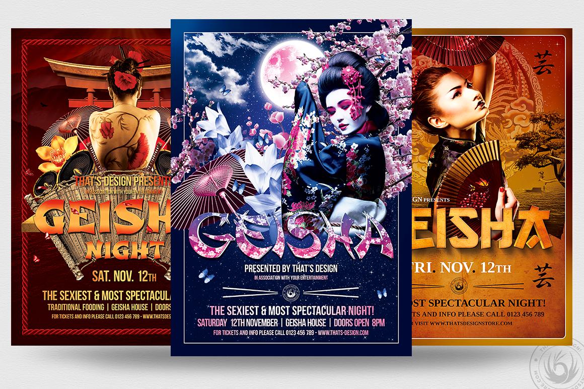 Geisha Night Flyer Bundle example image 2