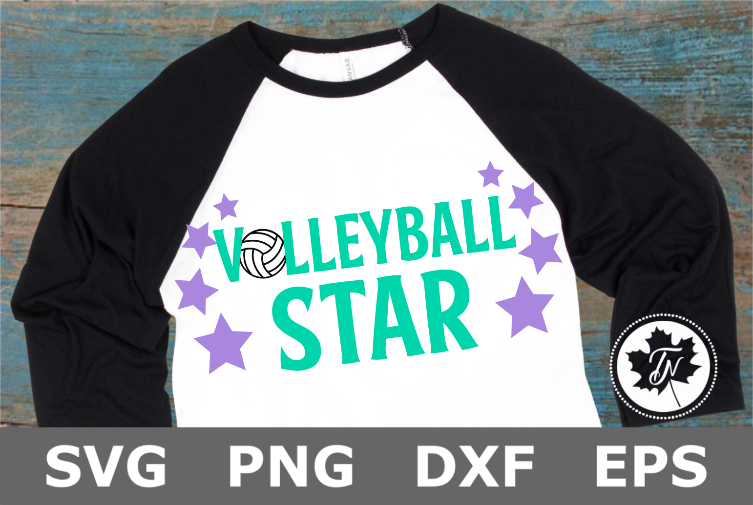 Volleyball Star - A Sports SVG Cut File example image 2