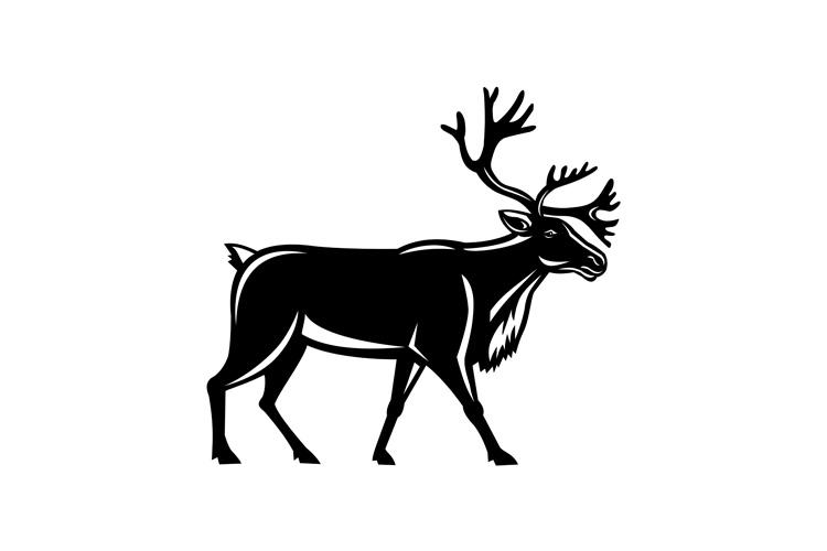 Caribou Walking Side Retro example image 1