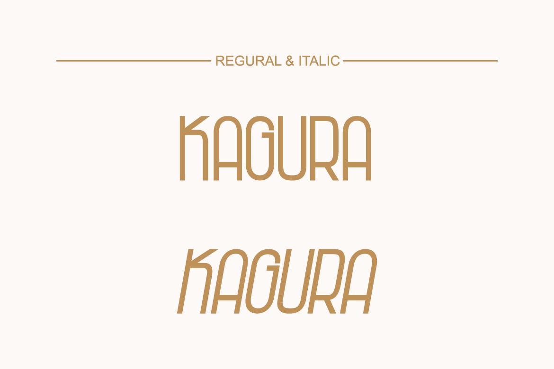 Kagura | Uniqe Sans Serif Fonts example image 2