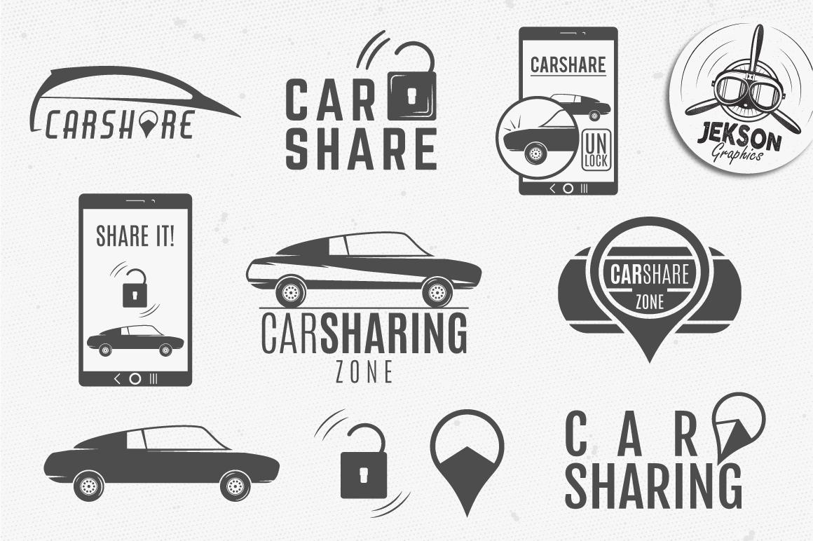 Car Sharing Badges & Elements example image 2