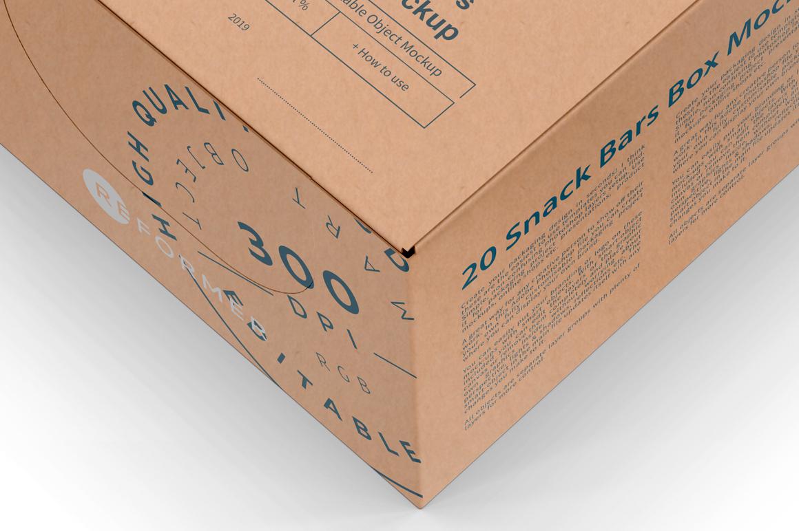 Kraft Snack Bars Box 20x80g Mockup example image 3