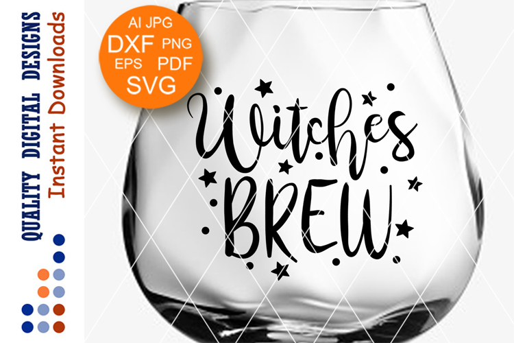 Witches brew svg files sayings Halloween Witch example image 1