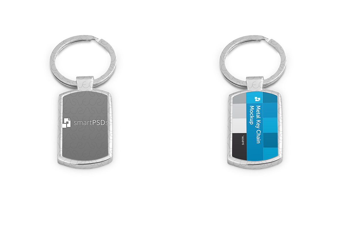 Metal Key Chain Mockup for Sublimation Design Preview example image 4