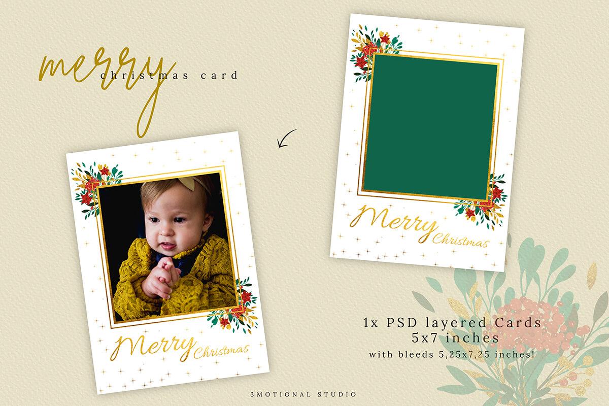 Christmas Card Template 5x7 example image 6