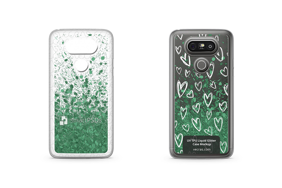 LG G5 UV TPU Liquid Glitter Case Design Mock-up example image 1