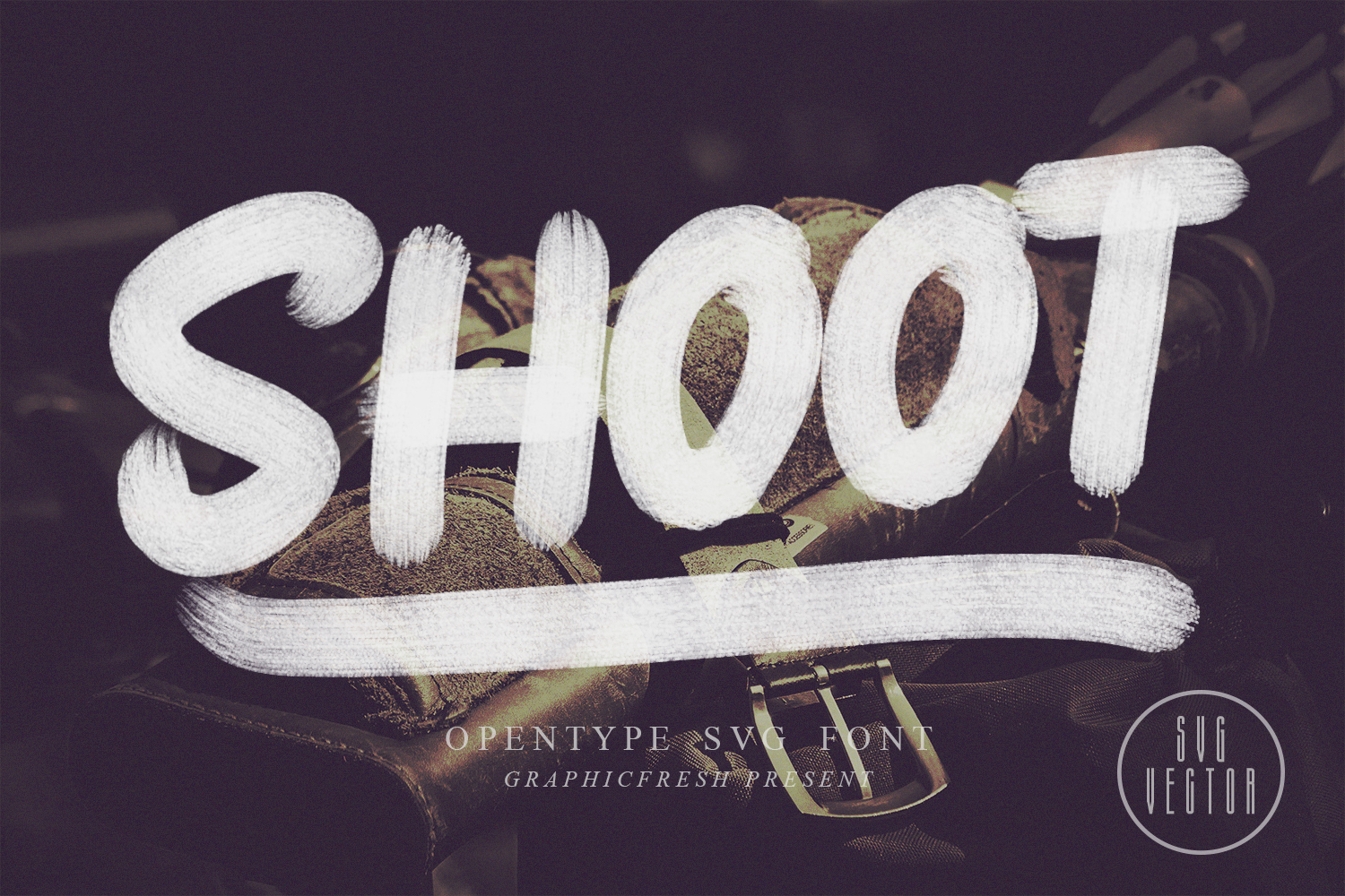 Shoot SVG Font example image 1