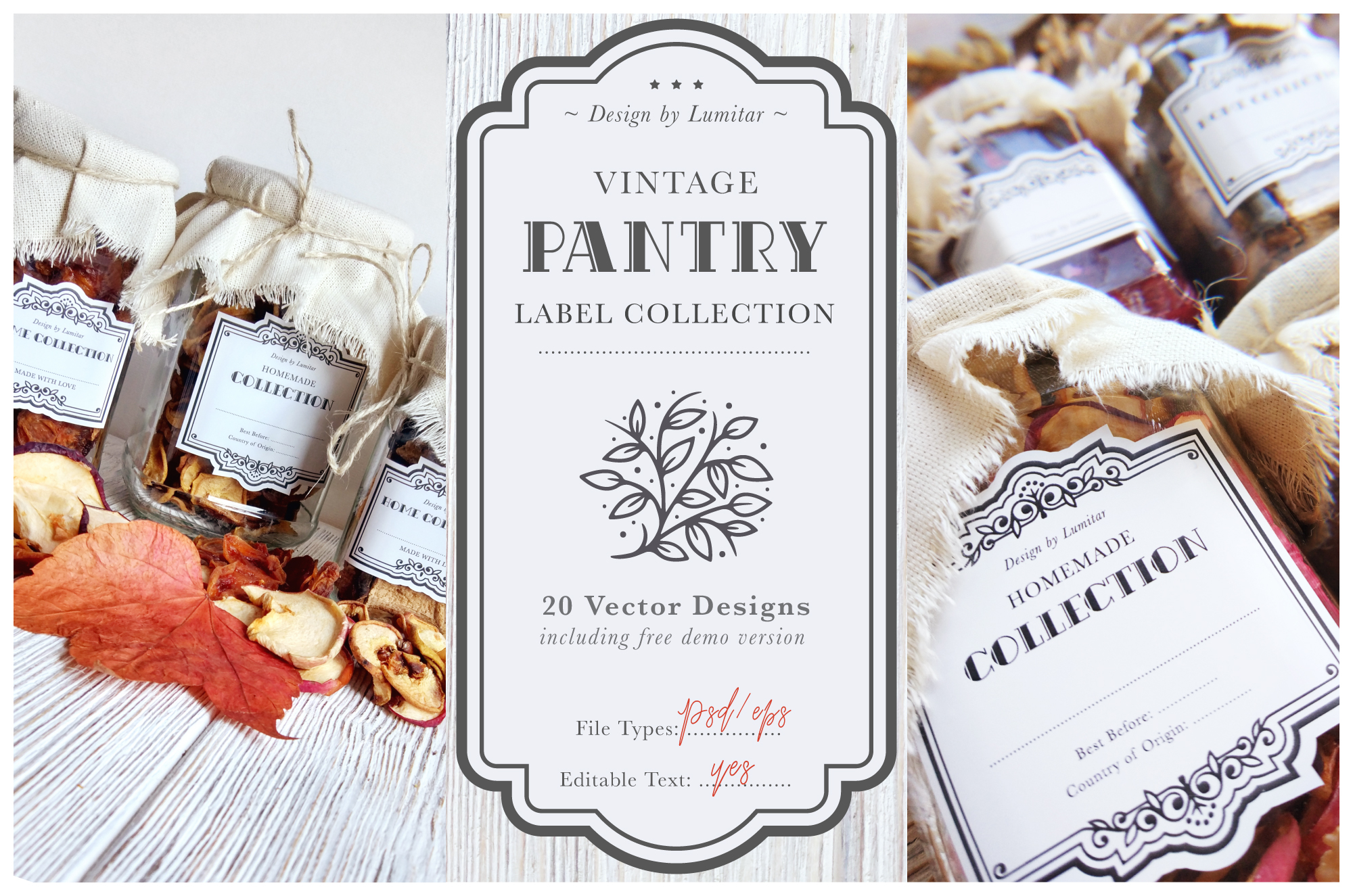 Vintage Pantry Label Collection example image 1