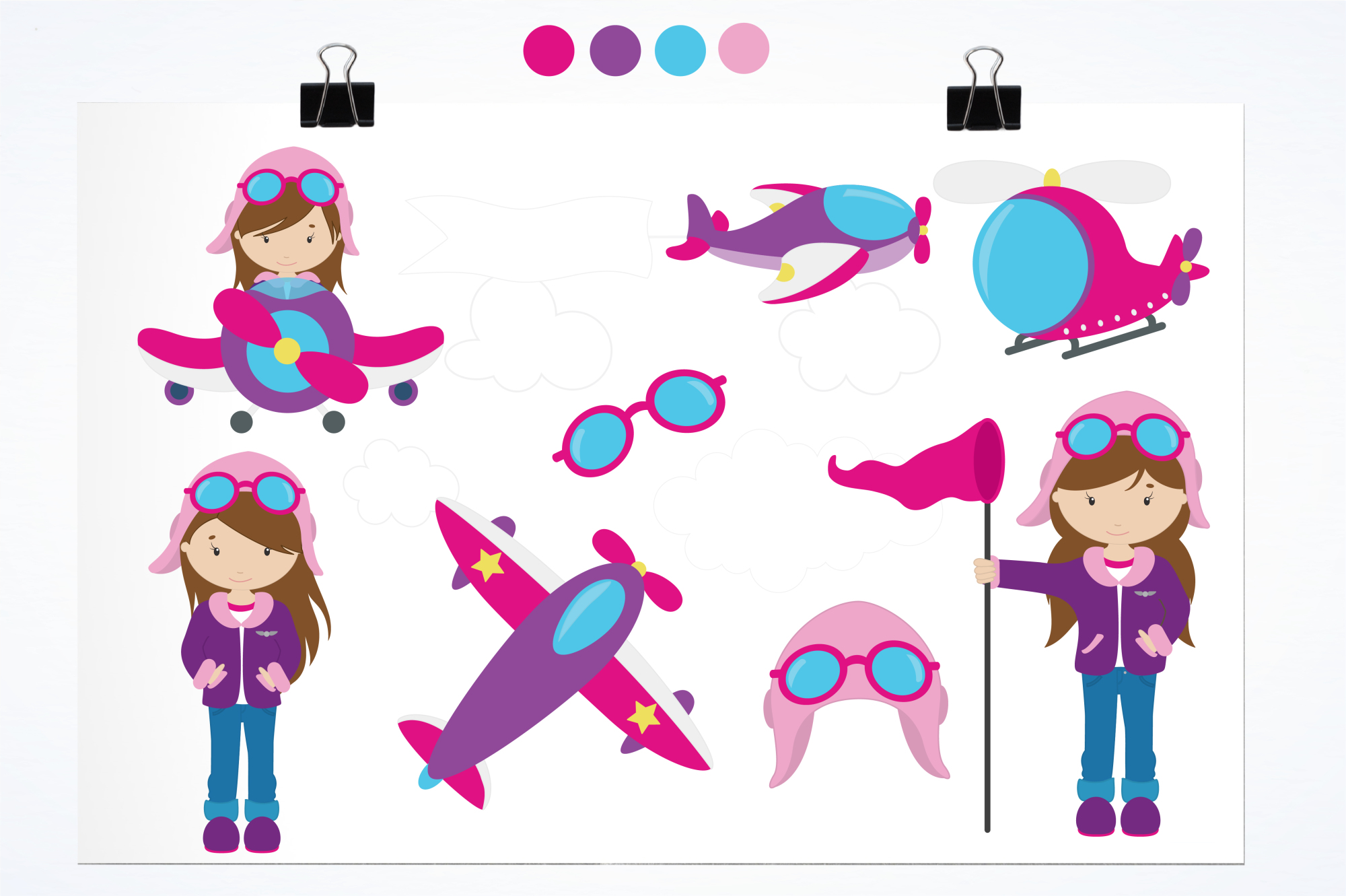 Flygirls graphics and illustrations example image 2