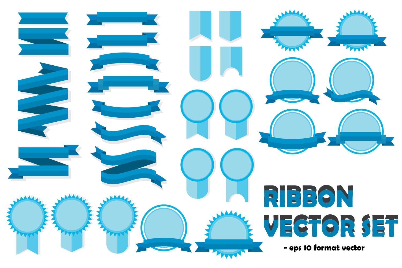 Ribbon Vector Templates Set