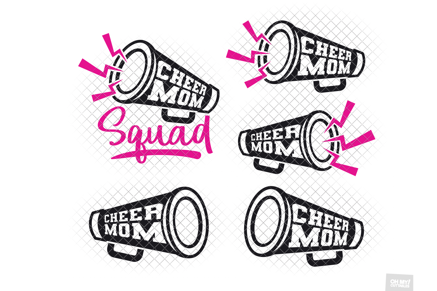 Cheer Mom SVG in SVG, DXF, PNG, EPS, JPG example image 2