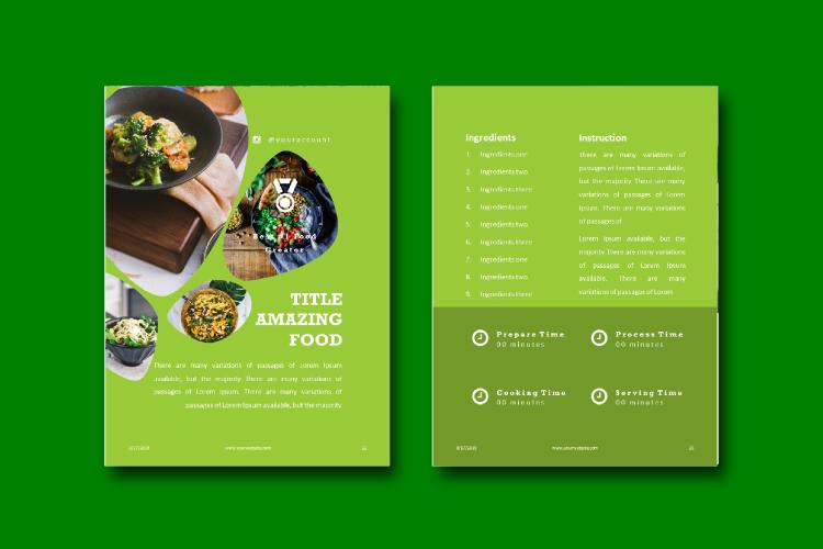 Recipe eBook Template - Vegan Recipe Theme example image 7