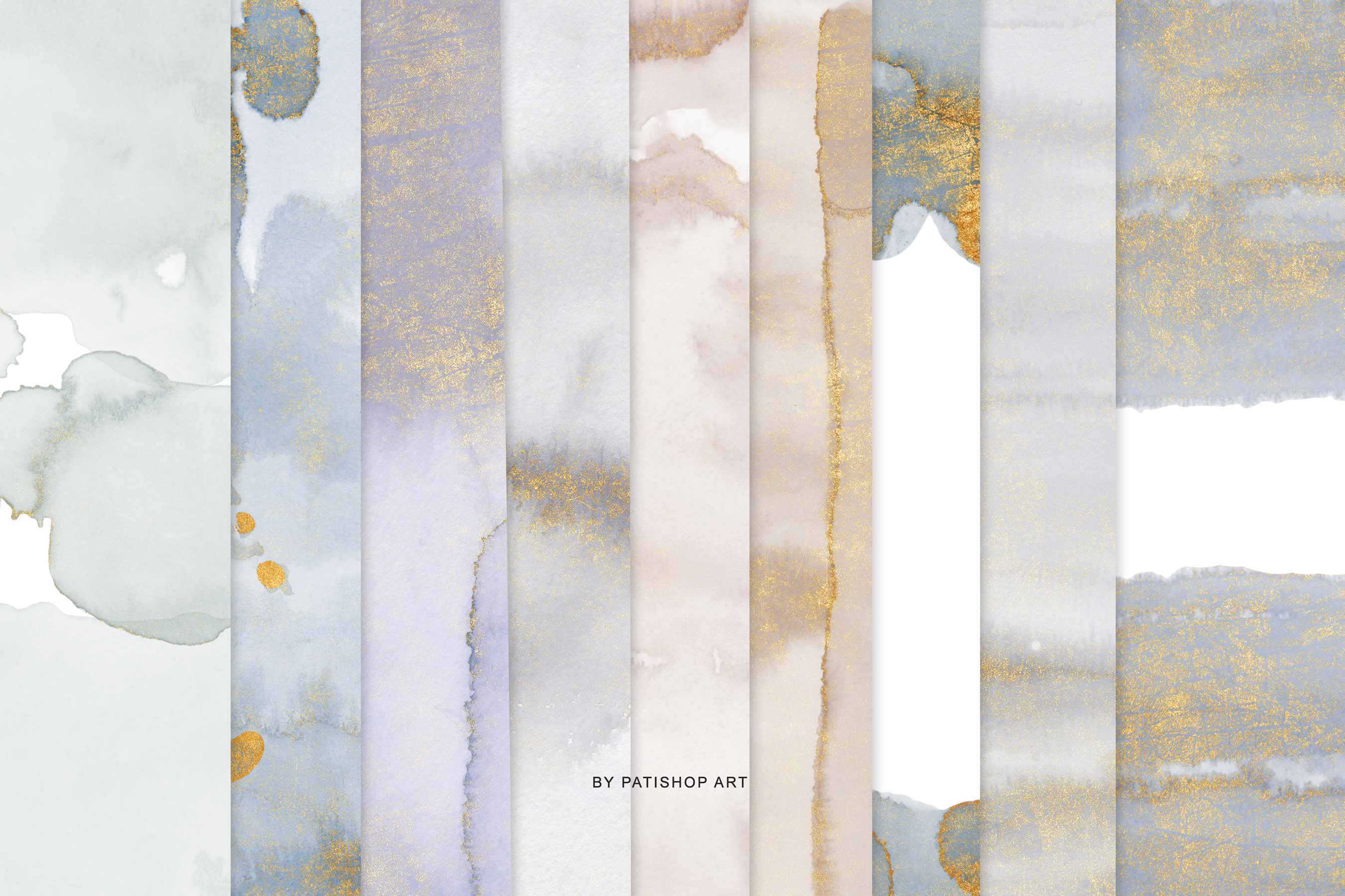 Watercolor Glittered Gray & Beige Background 5x7 example image 6